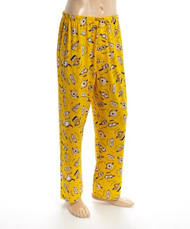 Another great find on #zulily! Yellow Despicable Me Lounge Pants - Men #zulilyfinds