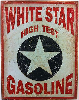 Plaque metal publicitaire vintage usa 41x32 cm gasoline star deco collection art of hot - Plaque publicitaire vintage ...