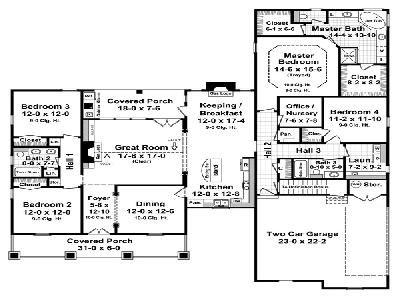 Hpg 2500 1 The Cedar Grove House Plans One Story Country Style House Plans House Plans