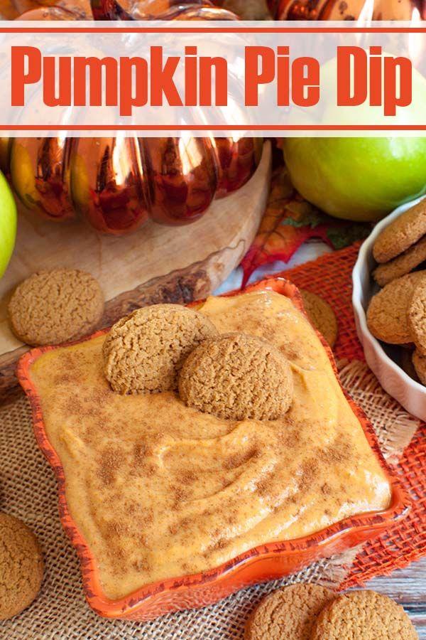Pumpkin Pie Dip - AMAZING For Fall!  #pumpkindip