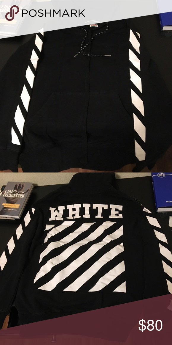 Off White Black Hoodie Black Hoodie White And Black Clothes Design