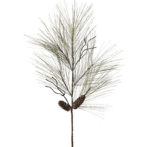 """RAZ Imports - 30"""" Glittered Pine Spray"""