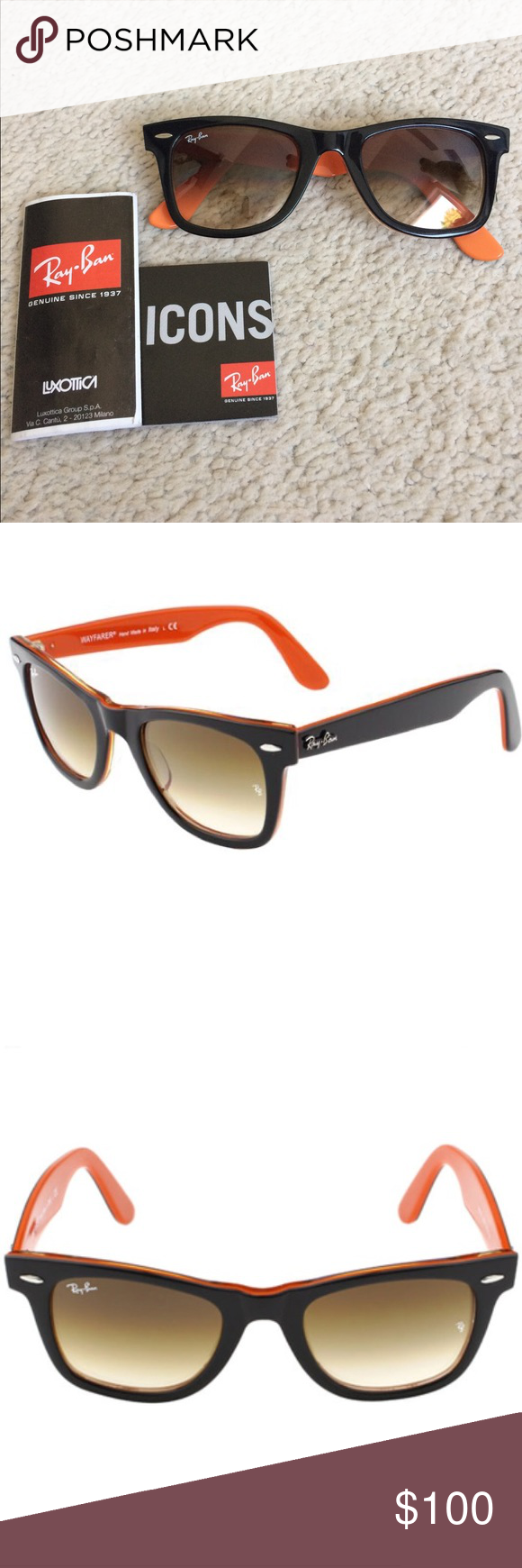 Ray Ban Orange And Black Wayfarer Sunglasses Black Wayfarer Sunglasses Black Wayfarer Wayfarer Sunglasses