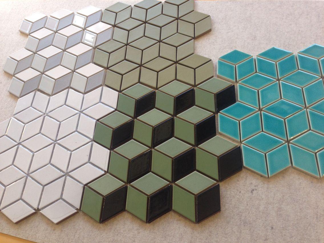 Heath ceramics tiles Heath ceramics tile, Cube pattern