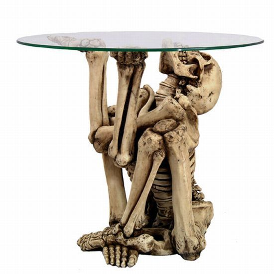 12 coolest tables | gothic and skeletons