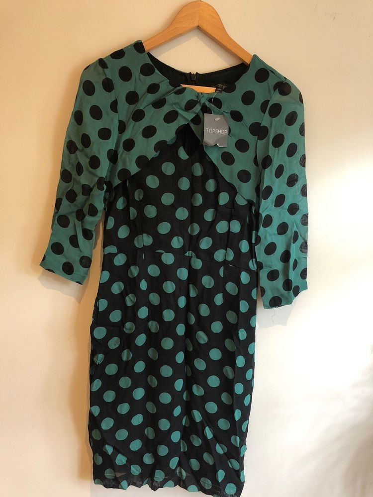 8f034069d0cc topshop polka dot dress Size 10  fashion  clothing  shoes  accessories   womensclothing  dresses (ebay link)