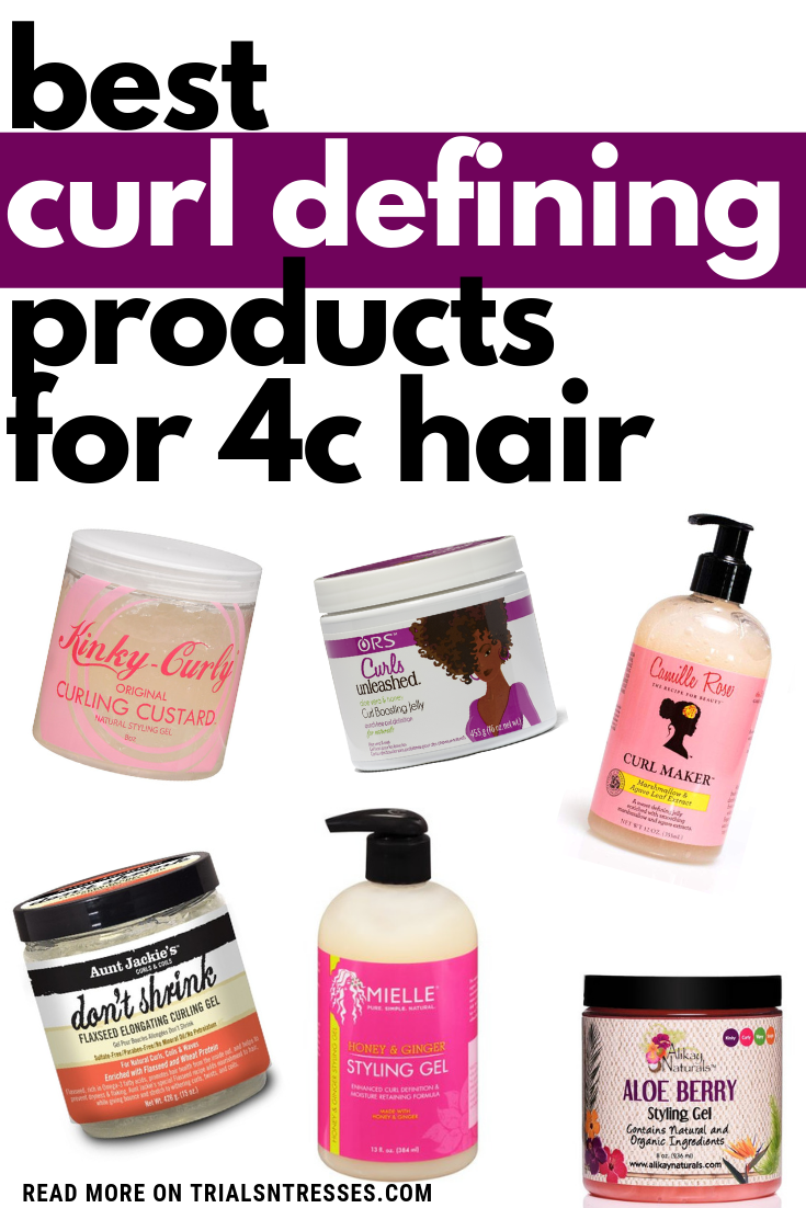 Best Curl Defining Products For 4c Hair Best Hair Products For Styling Drugstore Beauty Curl Defining Hair In 2020 4c Hairstyles Natural Hair Styles Defined Curls