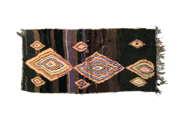 Boucharouite Rug Moroccan Rug Vintage Beni Ourain Rug Teppich Marokko Berber Carpet Wollteppich Al Moroccan Rug Pink Moroccan Rugs Colorful Moroccan Rugs