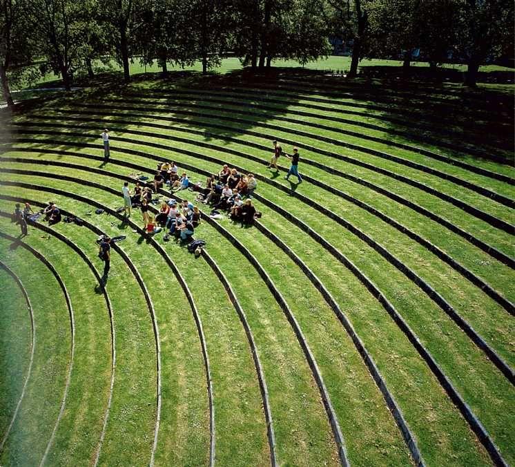 grass amphitheater for aarhus university campus designedcf