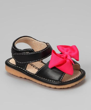 684c3c5229 Another great find on  zulily! Laniecakes Black Bow Squeaker Sandal by  Laniecakes  zulilyfinds