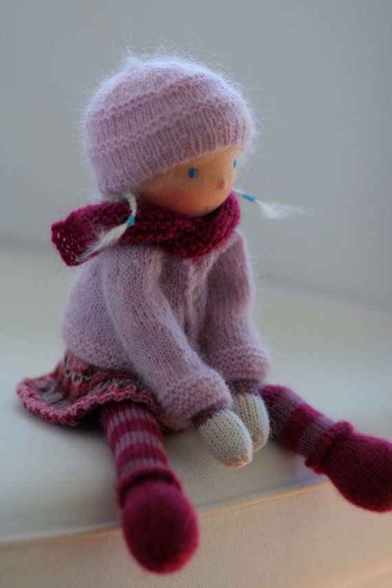 Custom order for Chris -Waldorf knitted doll 13\