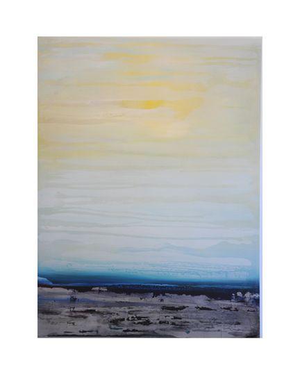 """Acrylic & Silver-Leaf on Wood Panel    48"""" x 36""""    2012"""