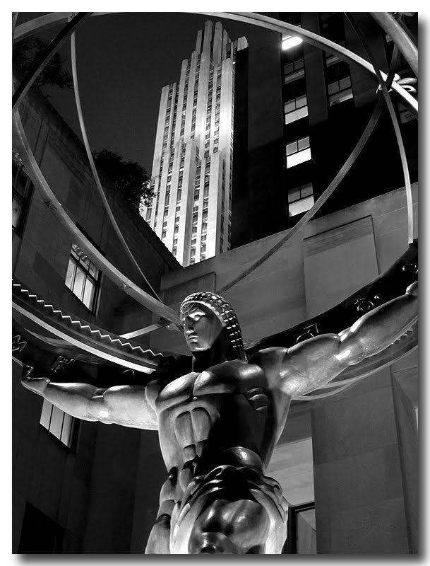 1937 art deco statue of Atlas by Lee Lawrie & Rene Paul Chambellan (Rockefeller Center, NYC)