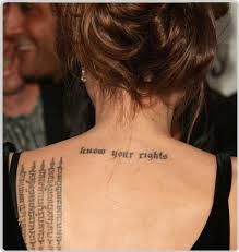 know your rights tattoo