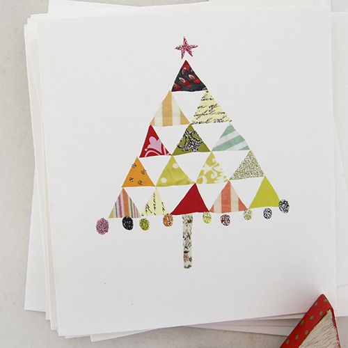 print & pattern blog - Caroline Gardner Christmas tree card 2015