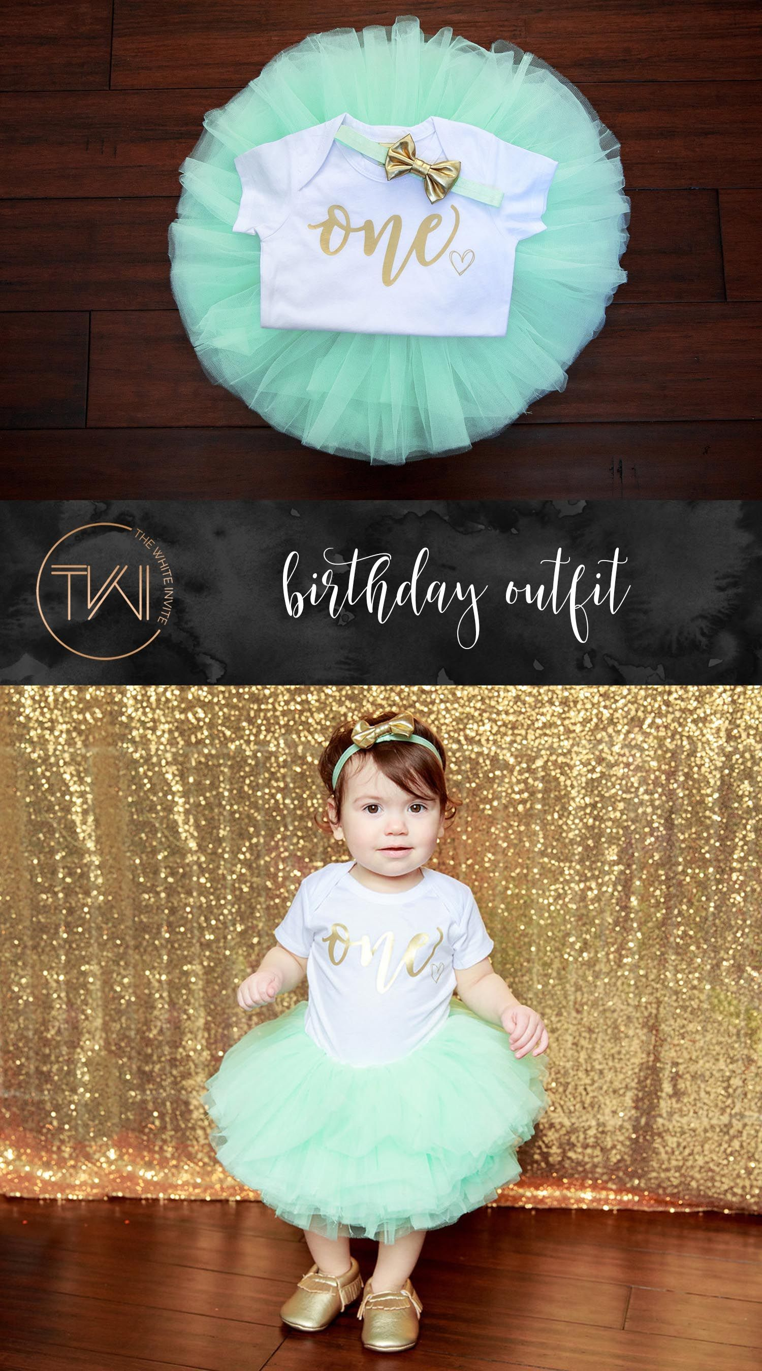 This First Birthday Girl Outfit including a 10 layer soft tutu ... 6f8e89eef