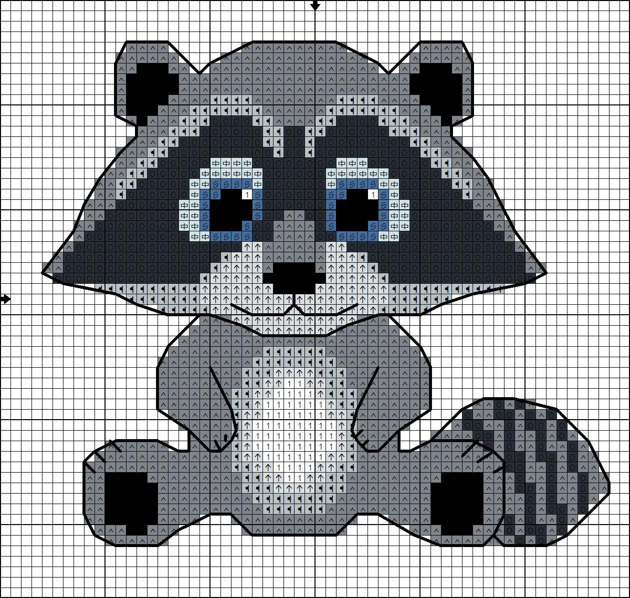 Raccoon Rabble Cross Stitch Pattern