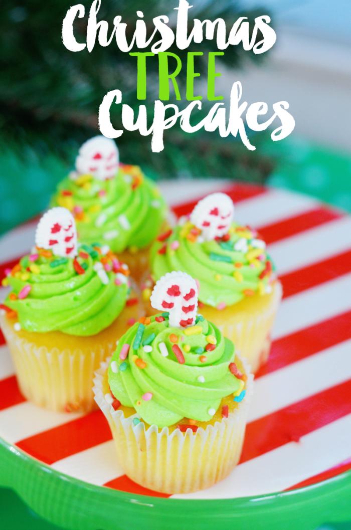 Christmas Tree Cupcakes Recipe Pinterest Christmas Tree