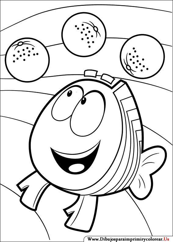 Dibujos de Bubble Guppies para Imprimir y Colorear | Bubble guppies ...