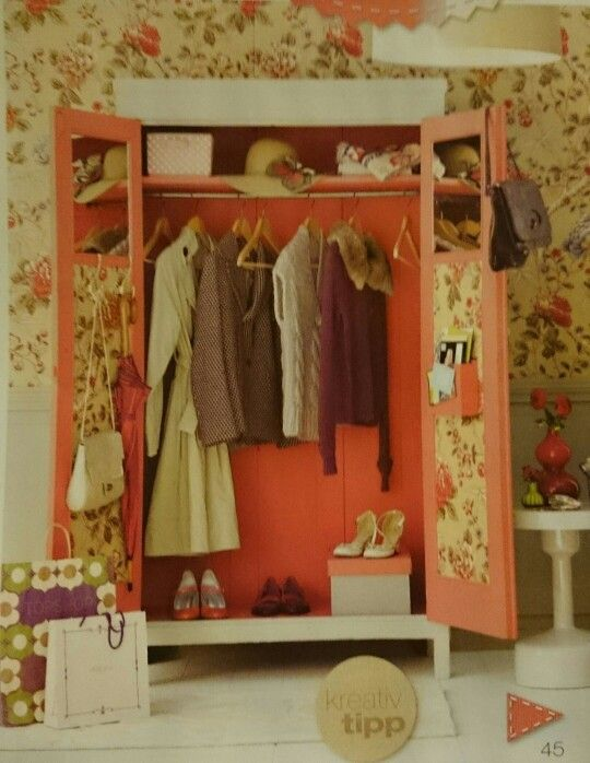 Good Meinen Kleiderschrank f r Lilly aufpimpen innen und au en lackieren T rf llungen mit Spiegelfliesen bekleben