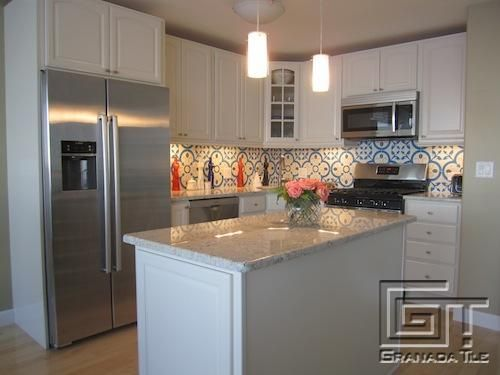 Marvelous A Bright Take On Normandy For A Cement Tile Backsplash By Granada Tiles