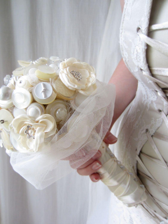 Button bouquet fabric flower wedding bouquet by designbythyll button bouquet fabric flower wedding bouquet by designbythyll 74500 izmirmasajfo
