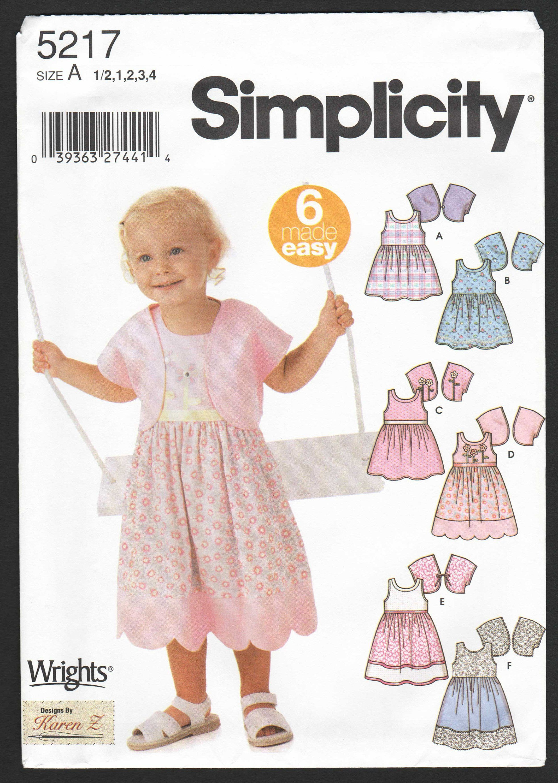 69b6faac6 Toddler Dress Pattern Girls Sleeveless Dress and Jacket Sewing ...