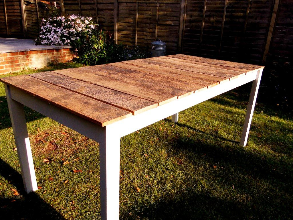 Build Your Own Garden Table Outdoor Wood Table Diy Outdoor