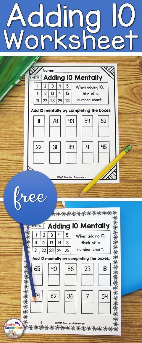 Freebie place value worksheet students use number charts to help freebie place value worksheet students use number charts to help them add 10 mentally ibookread ePUb