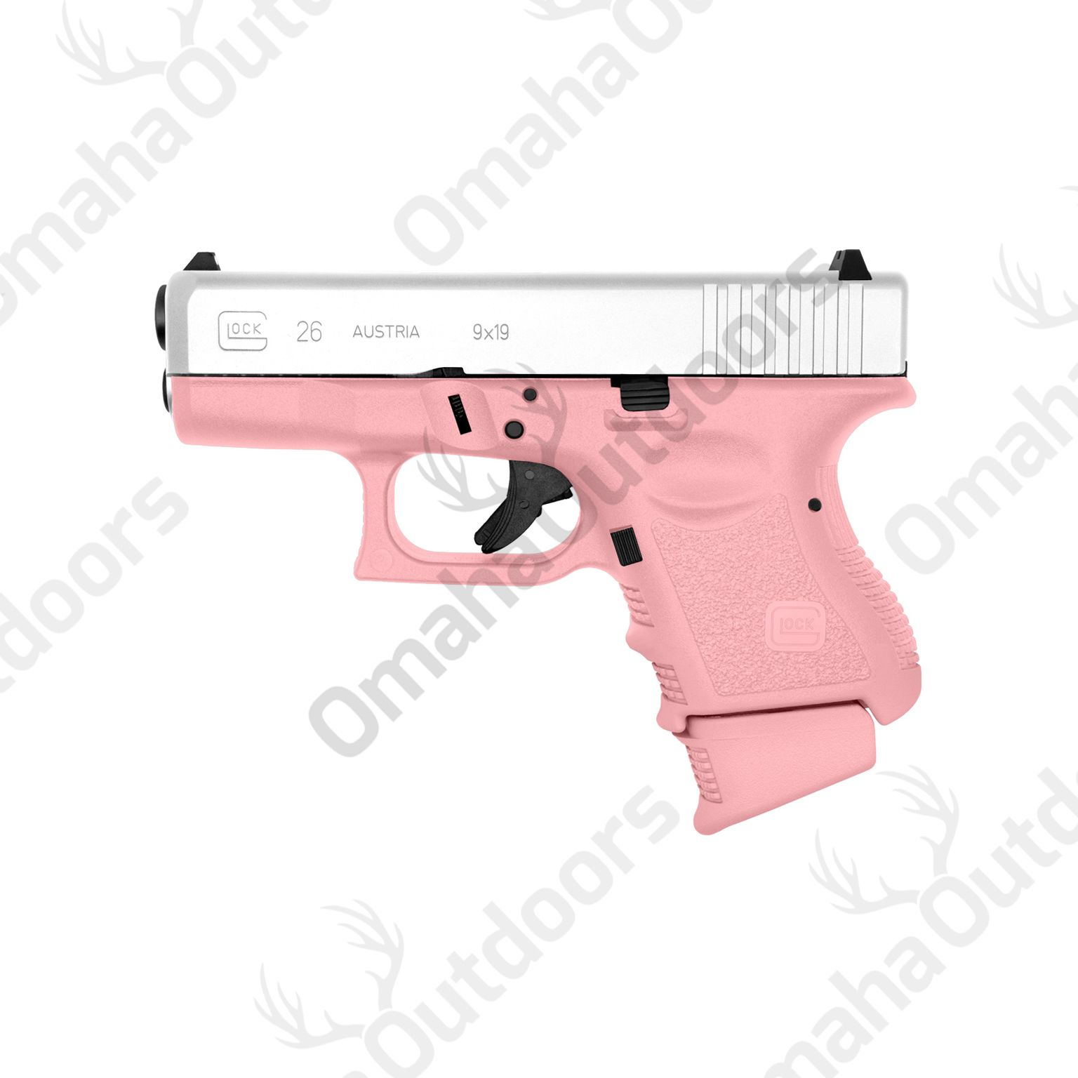 Glock 26 Gen 3 Victoria Pink 9mm 10 RDS 3.46″ Handgun - Omaha Outdoors Find our speedloader now!  www.raeind.com  or  http://www.amazon.com/shops/raeind