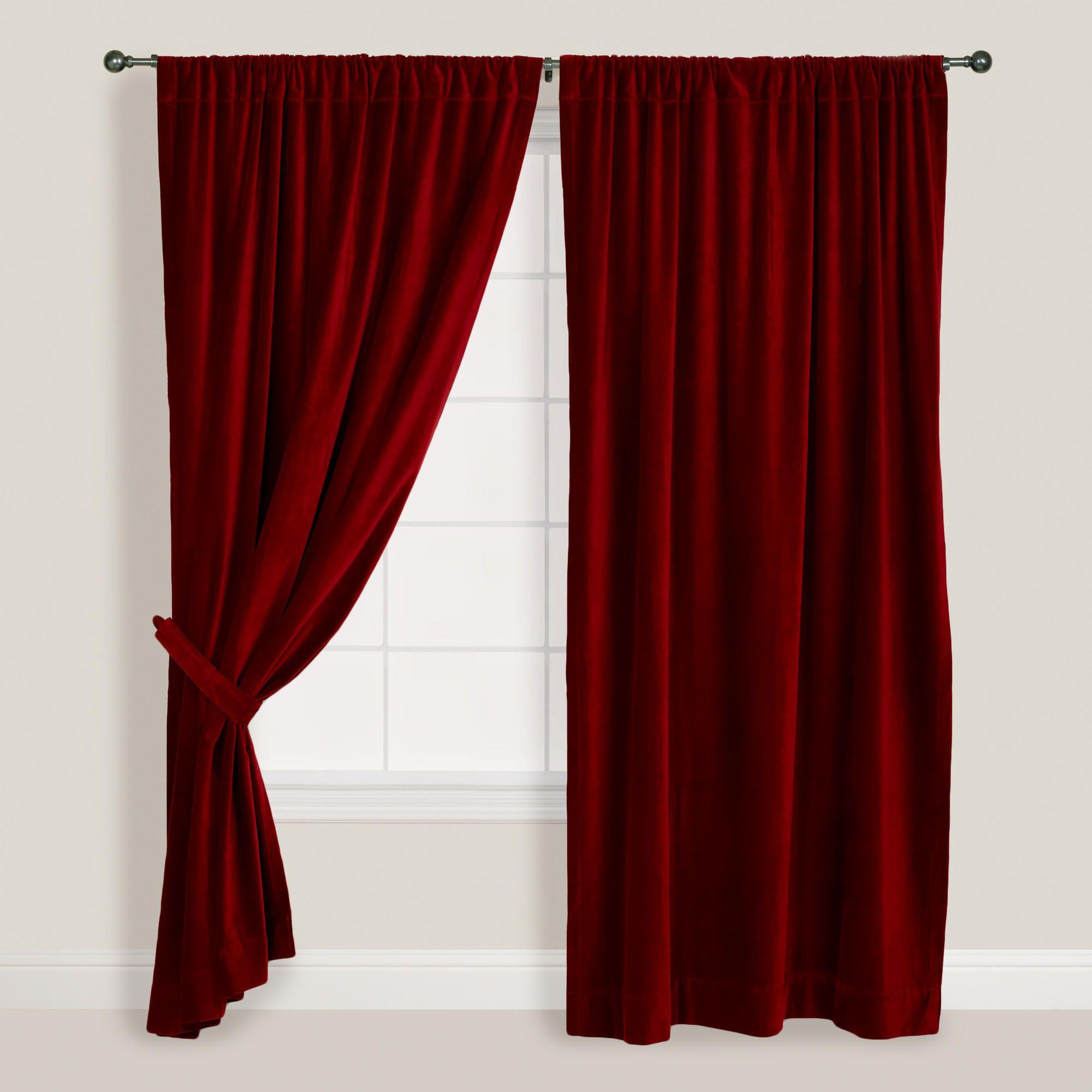 Wine Velvet Curtain World Market Velvet Curtains Red Velvet