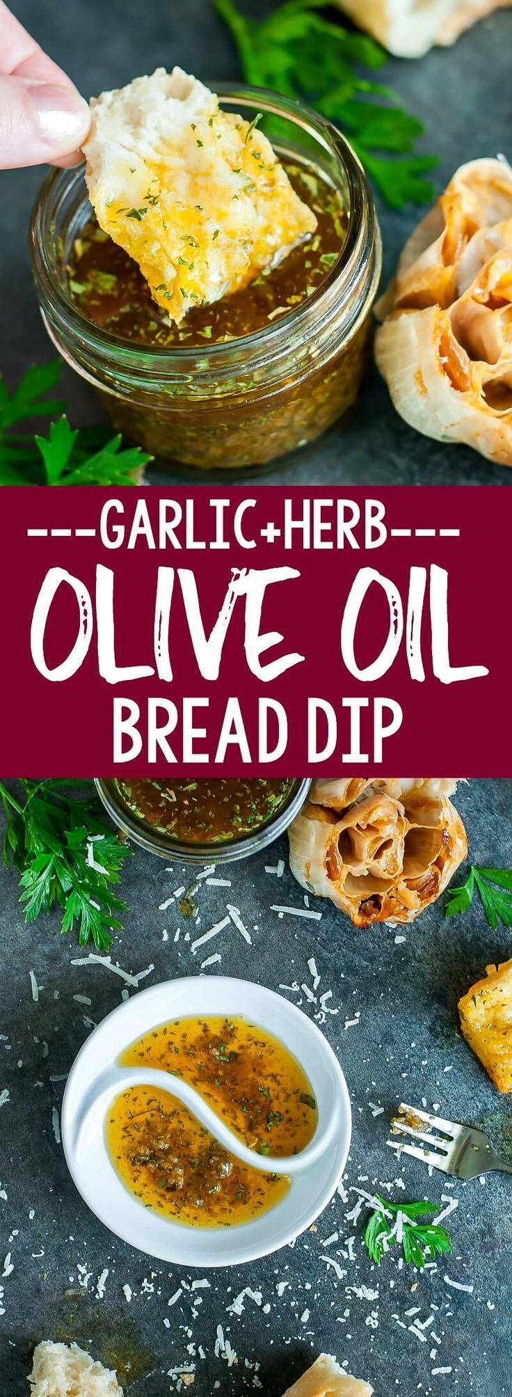 Restaurant-Style Olive Oil and Herb Bread Dip #oliveoils