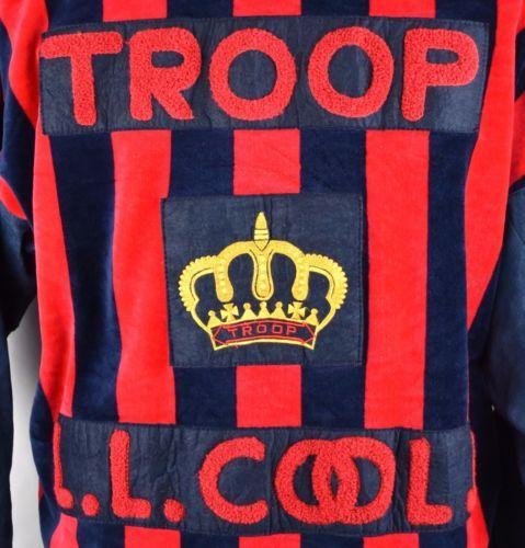 7b05fe89f25 RARE-80-039-s-World-of-Troop-LL-Cool-J-Suede-Leather-Jacket-Hip-Hop-Vintage- Size-L