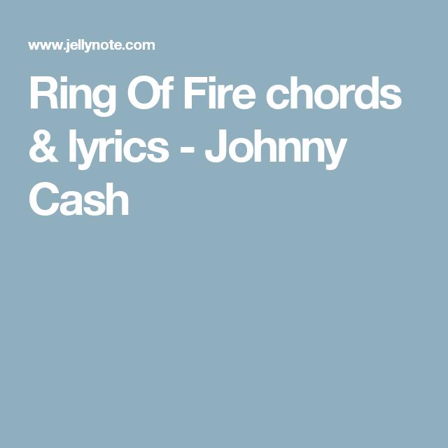 Ring Of Fire chords & lyrics - Johnny Cash | Guitar | Pinterest ...