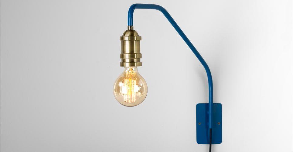 Starkey Wandleuchte, Blau und Messing | Leuchten, Designs und Ideen