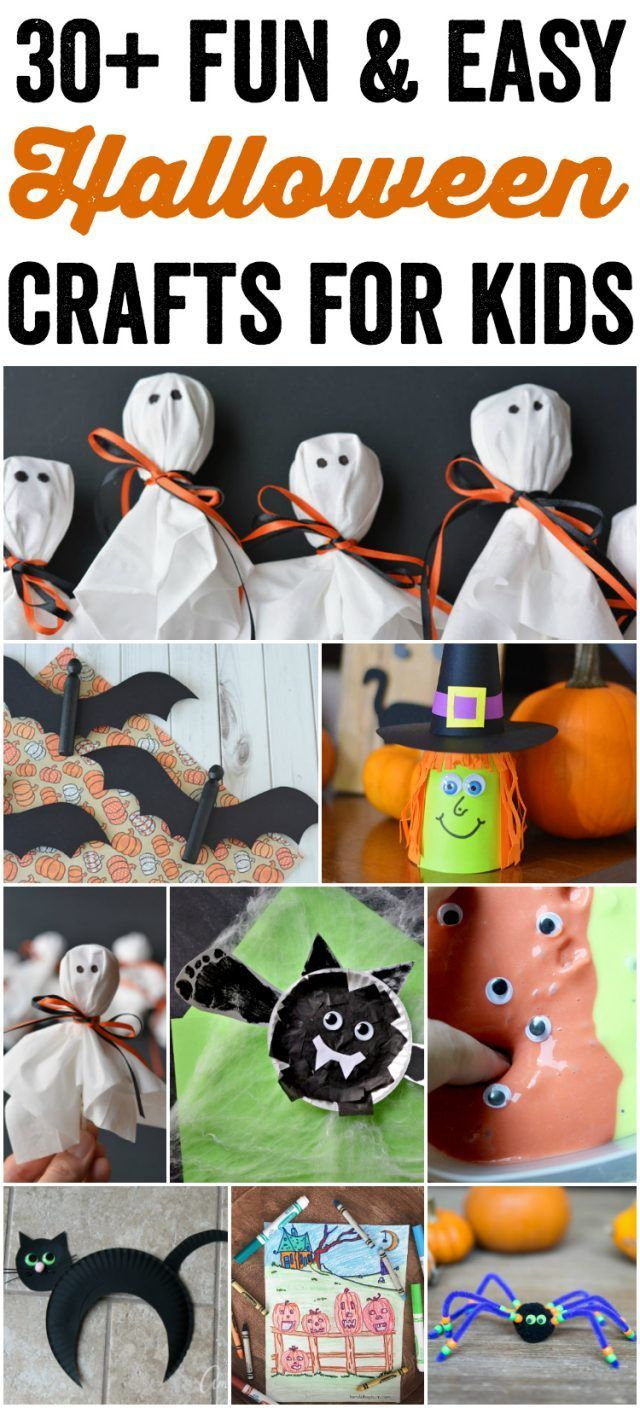 Fun and Easy Halloween Crafts for Kids Easy halloween - Halloween Decorations For Kids