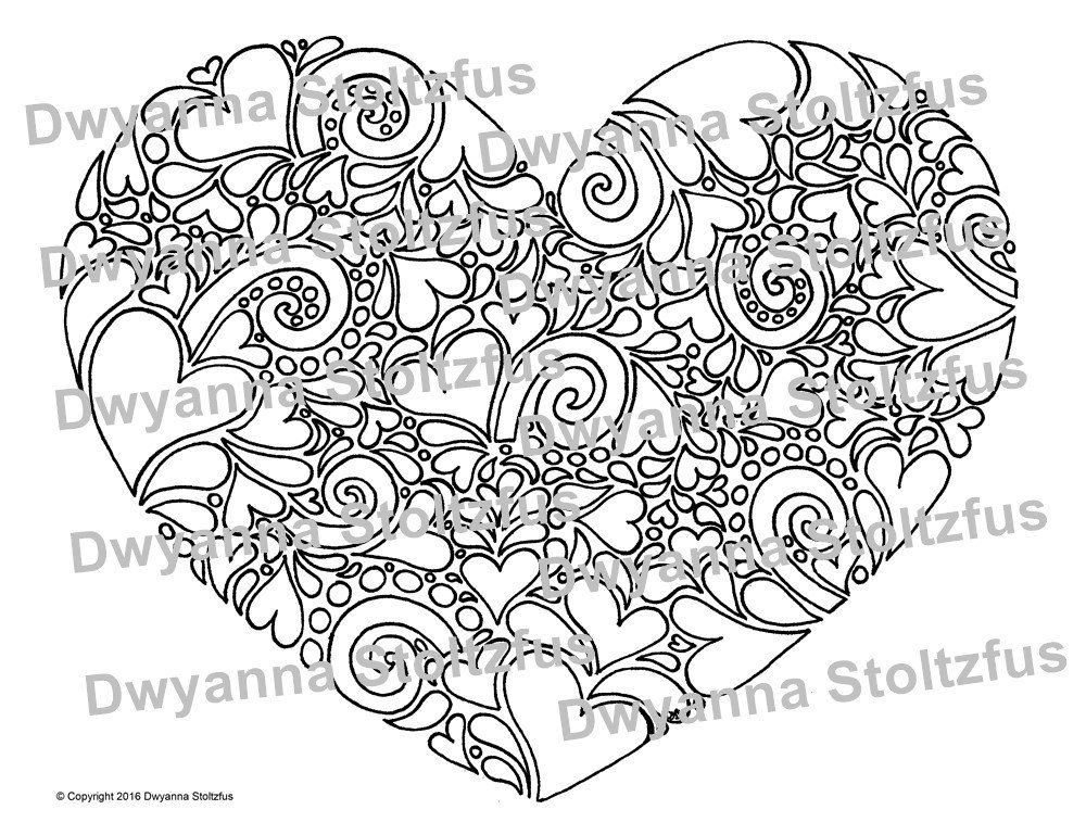 Heart Mosaic Coloring Page Jpg Coloring Pages Printable