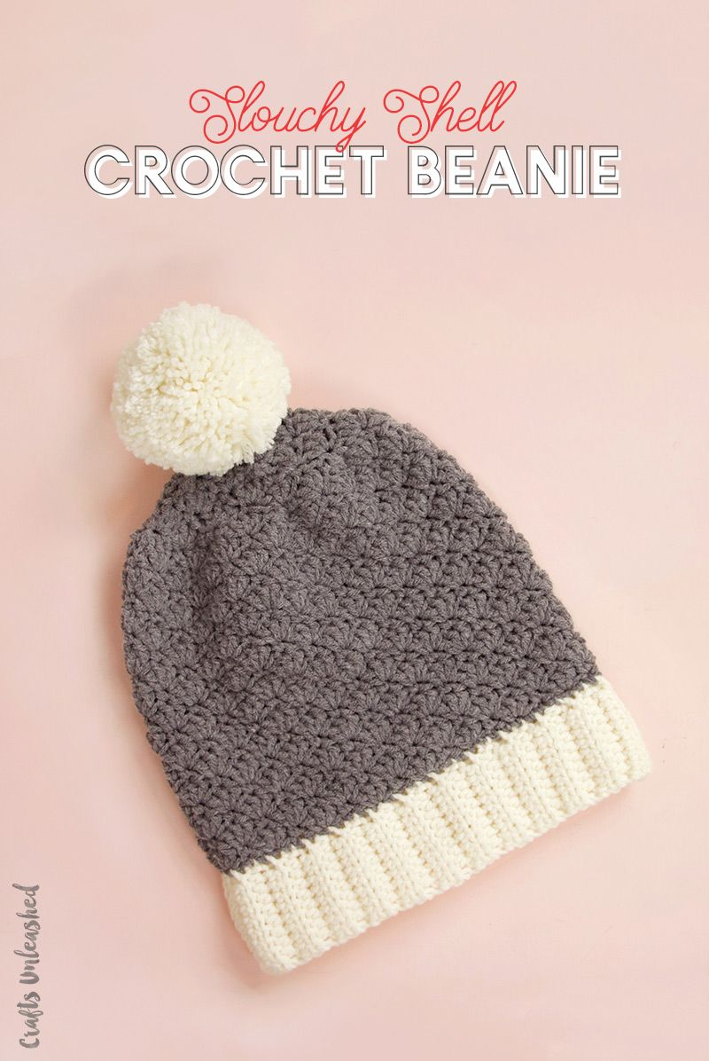 Crochet Beanie Pattern: Slouchy Shell - Consumer Crafts | Gorritas ...
