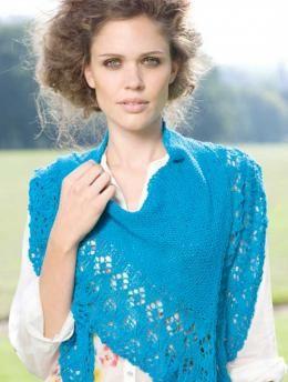 Gratisanleitung Türkisfarbener Fichu: Das farbenprächtige Schultertuch wärmt an kühlen Sommerabenden. Durch das weiche Garn Eqypto Cotton ist das Tuch sehr angenehm zu tragen.