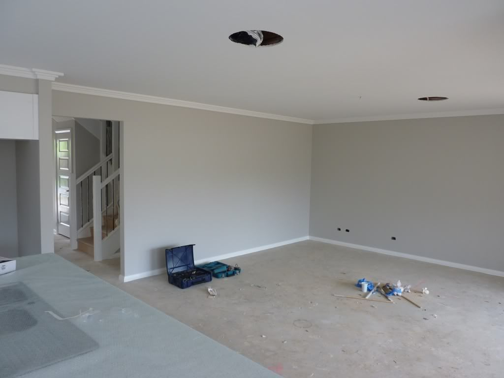 Dulux Grey Pebble Skirting Is Vivid White Colour