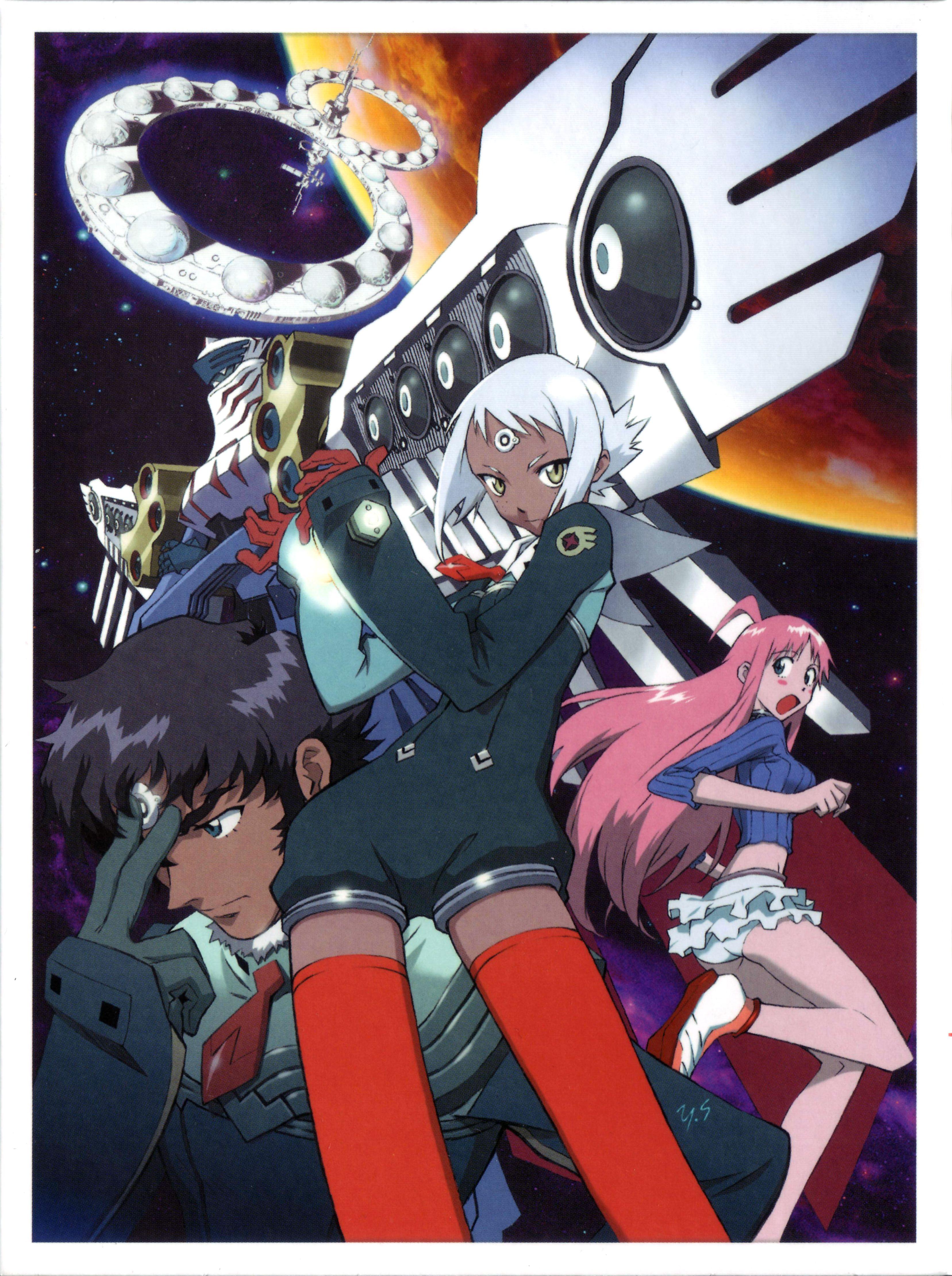 Download Top O Nerae 2 Gunbuster Diebuster Digipak2 3313x4439 Minitokyo 90 Anime Anime Anime Art
