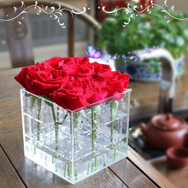 Wholesale Acrylic Waterproof Fresh Flower Box Flower