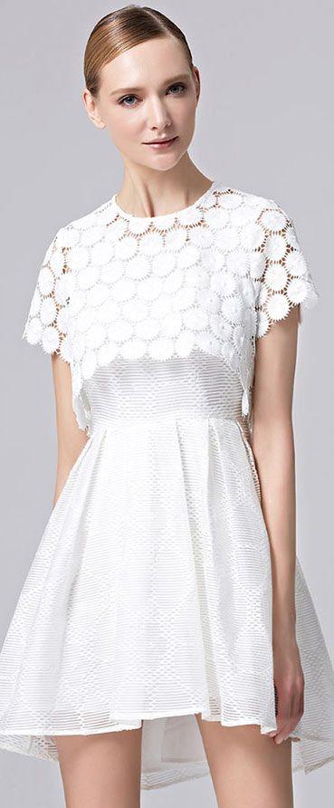 466c91e913 Robe de soirée blanche simple avec cape | Princesse robe pour fête d ...