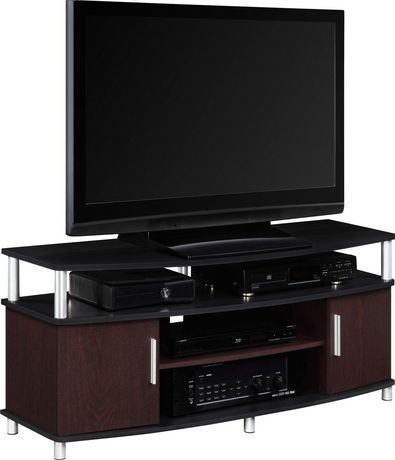 Dorel Carson Tv Stand Cherry 50 In Black Rooms Tv Stand