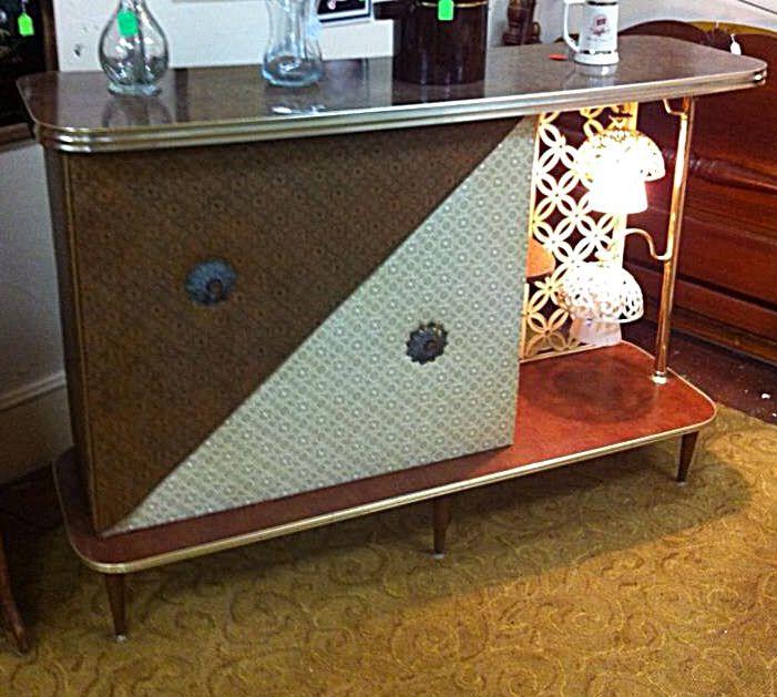 Atomic Era Mid Century Retro Vintage Bar Room Divider With