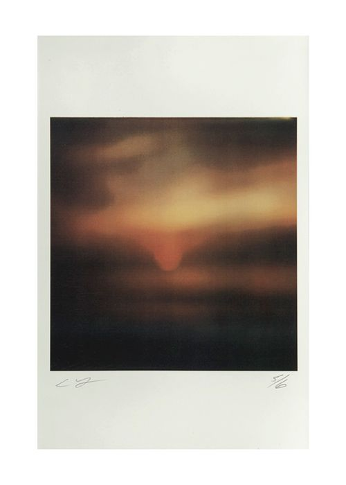 Cy Twombly  Miramare - Sunset by the Sea, Gaeta,  2001 Color dry print 17 x 11 inches  (43.2 x 27.9 cm) © Nicola Del Roscio Foundation