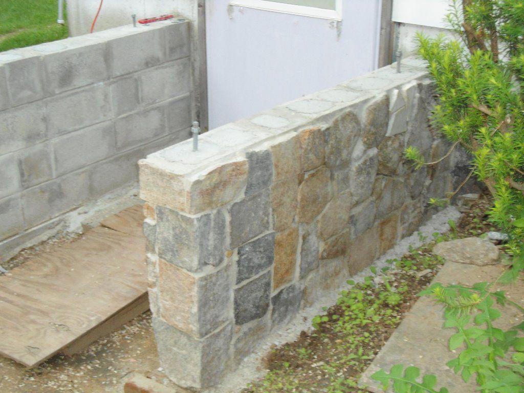 Stone Veneer Over Cinder Block By Bosemaster42 Cinder Block Walls Stone Veneer Exterior Stone Siding Panels