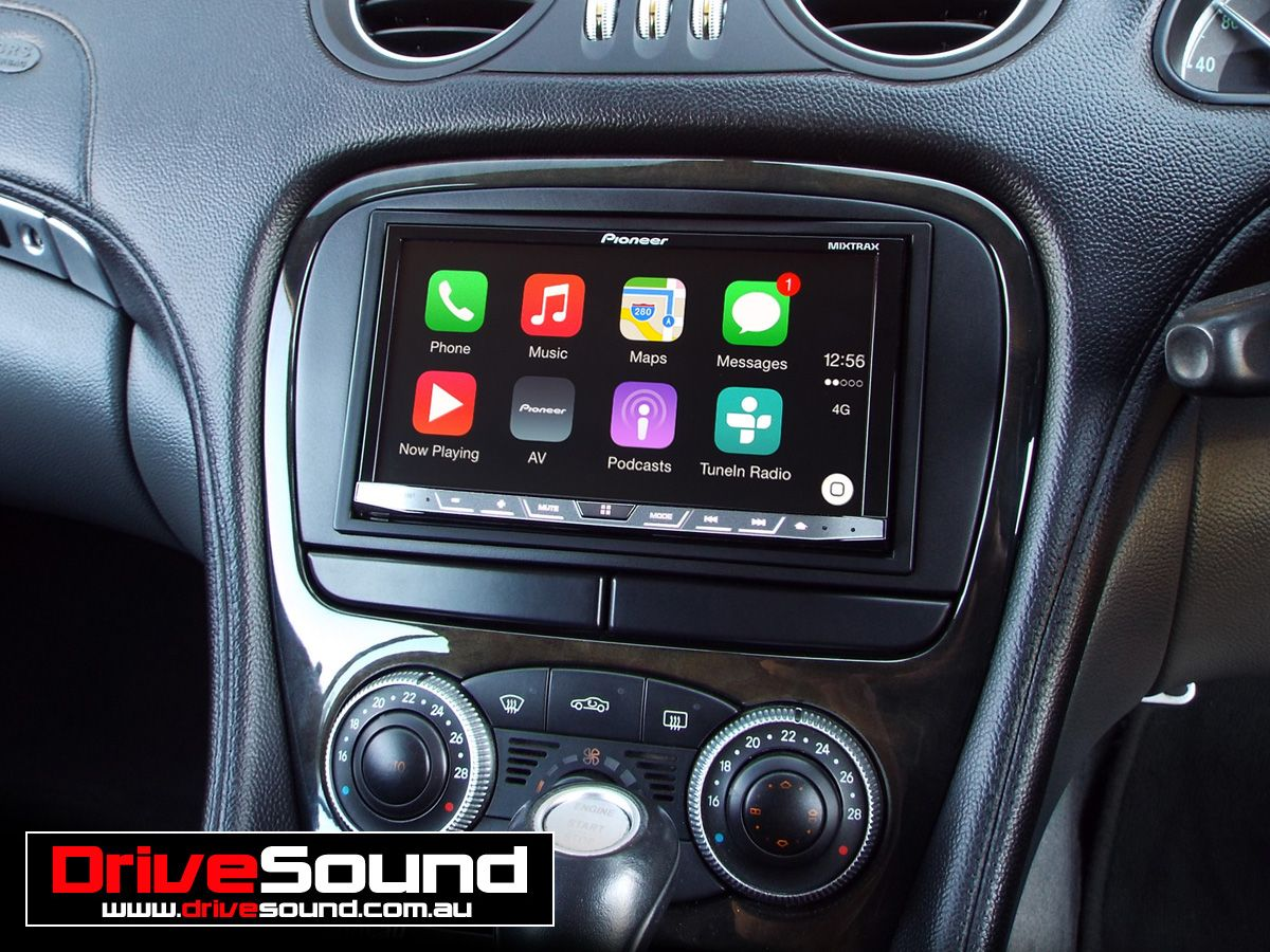 mercedes benz sl500 with apple carplay installed by. Black Bedroom Furniture Sets. Home Design Ideas