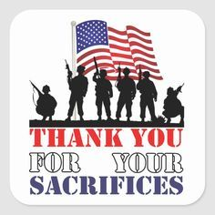 Thank You Soldiers Veterans Day Stickers   Zazzle.com