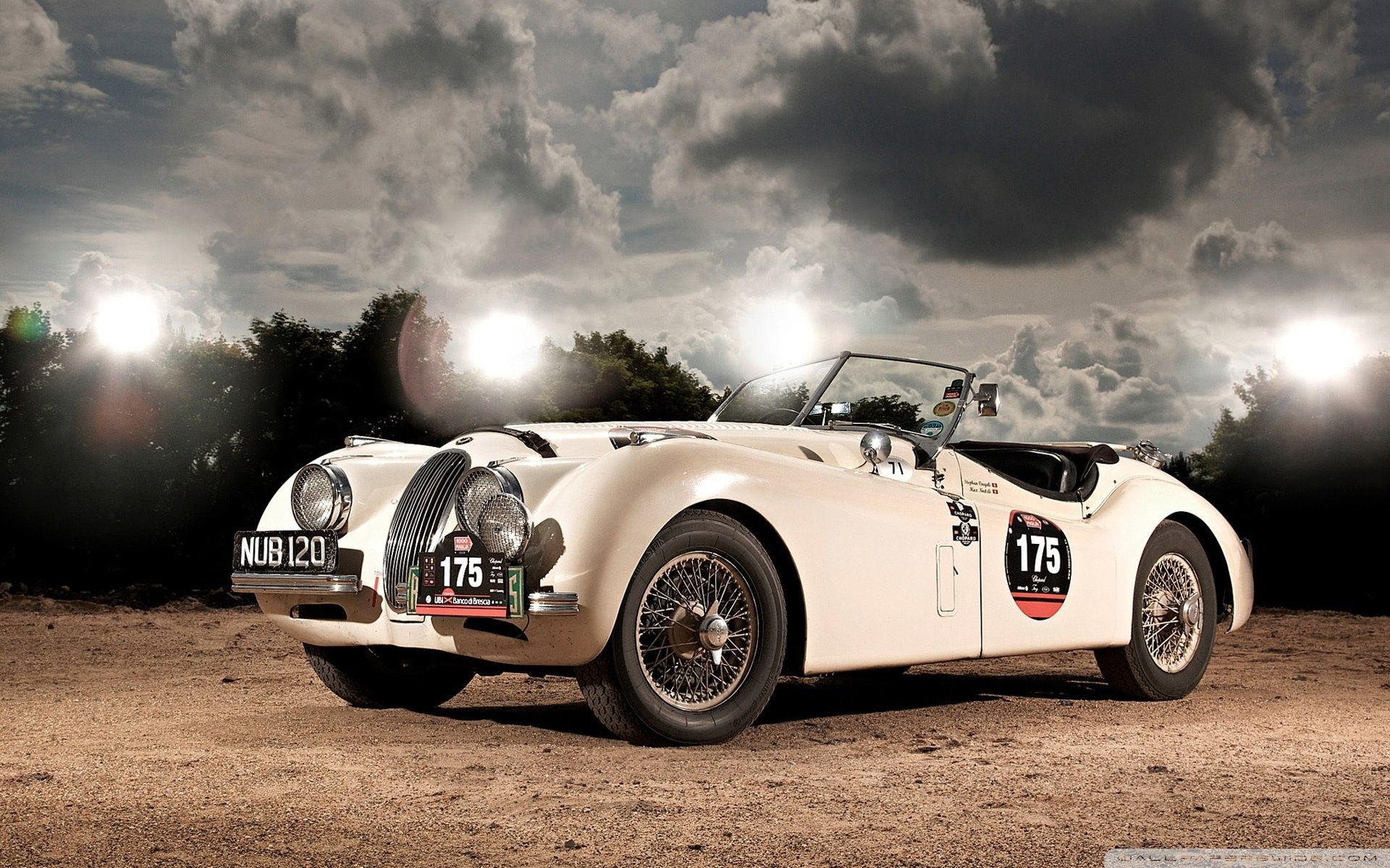 Jaguar XK120 Roadster HD Widescreen Classic Car Wallpaper